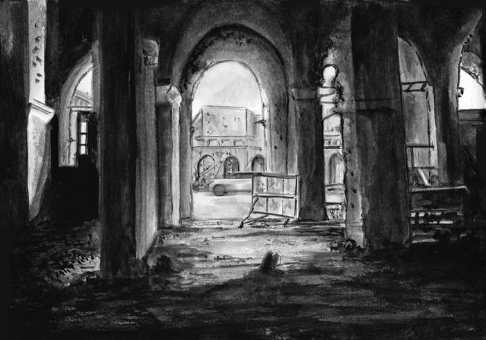 interior ruins of hert